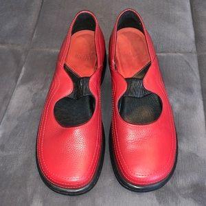 DANSKO red Mary Jane style size 39